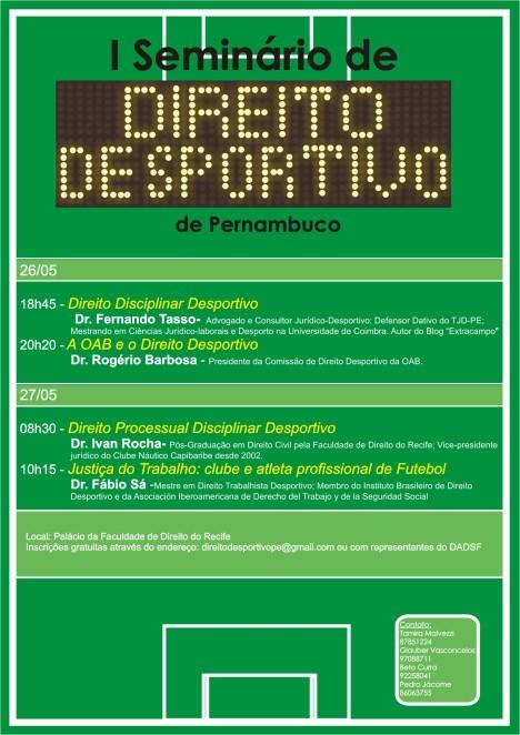 Cartaz_seminário direito desportivo
